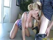 Video sexe MILF blonde au Pubis poilu